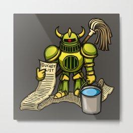 Bucket Knight Metal Print