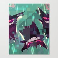 gengar Canvas Prints featuring Gengar by tinysnails
