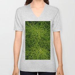 Foeniculum vulgare closeup - green fennel background Unisex V-Neck
