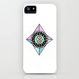 Diamond Shaped Mandala iPhone Case