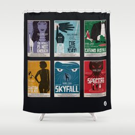 Bond #4 Shower Curtain