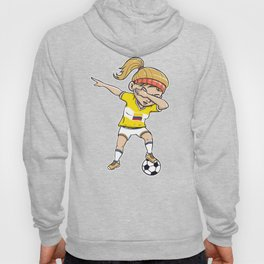 Dabbing Soccer Player Funny Colombia Fan design girl Hoody