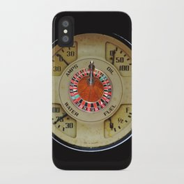 Custom Car Instrument Design with Lucky Roulette Wheel iPhone Case