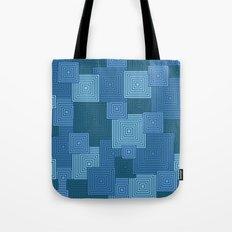 Blue Platformer Tote Bag