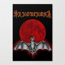 Sanguinosa - The Vampyre Bat Canvas Print