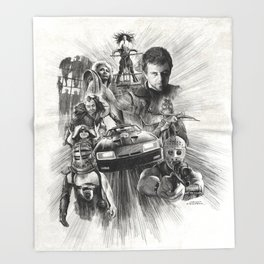 Homage to Mad Max Throw Blanket