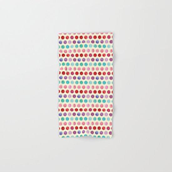 Watercolor Circles Pattern Hand & Bath Towel
