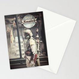 Boba Fett at Susie's Speed Shop Stationery Cards