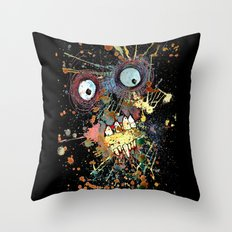 shocked in reverse Throw Pillow