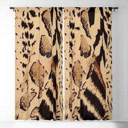wildlife brown black tan cheetah leopard safari animal print Blackout Curtain