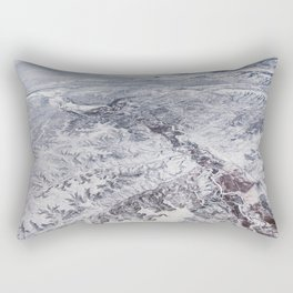 North America winter landscape aerial shot Rectangular Pillow
