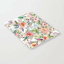 INCOGNITO INTROVERT Tropical Colorful Floral Notebook