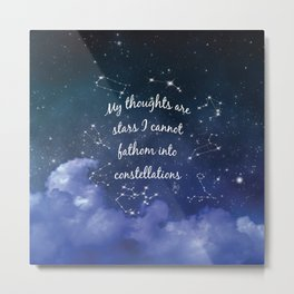 Thoughts and stars... Metal Print