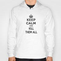 keep calm Hoodies featuring Keep Calm by Lunaramour