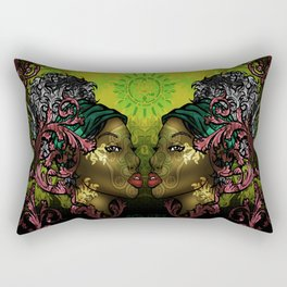 Ital Twins Rectangular Pillow