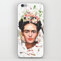 frida iPhone & iPod Skins featuring Frida by Tracie Andrews