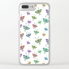 Butterfly Jungle Clear iPhone Case