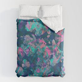Geometric Floral Duvet Cover