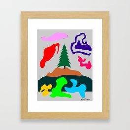 Grayed Limbo Framed Art Print