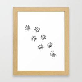 Cat tracks Framed Art Print