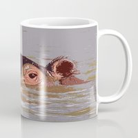 hippo Mugs featuring Hippo by Underlying Art