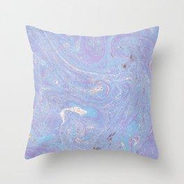 Purple marble Throw Pillow
