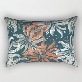 Stylized aster flowers Rectangular Pillow