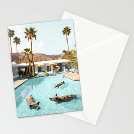 Pig Pool Party Stationery Cards
