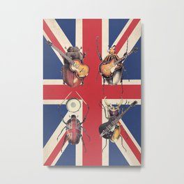 Meet the Beetles (Union Jack Option) Metal Print