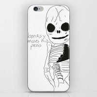 penis iPhone & iPod Skins featuring bonesy misses his penis by badNGO