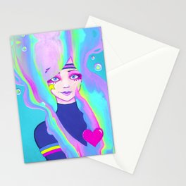 Turbo Girl Stationery Cards
