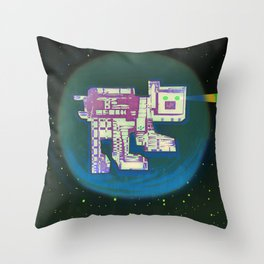 Spatial Bot Dog Throw Pillow
