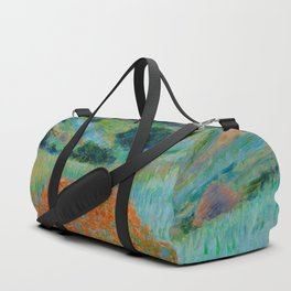 Claude Monet Impressionist Landscape Oil Painting Poppy Field in a Hollow near Giverny Duffle Bag