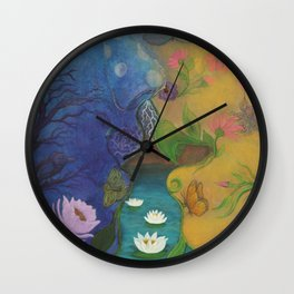 Lovers-Day and Night Wall Clock