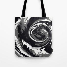 HURRICANE black white and grey swirl abstract design Tote Bag
