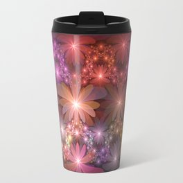 Bed Of Flowers Abstract, Fractal Art Travel Mug