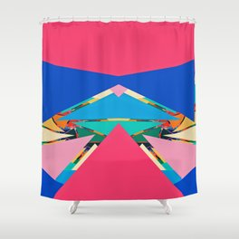 Colorful pieces Shower Curtain