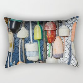Buoys at Boston Harbor Rectangular Pillow