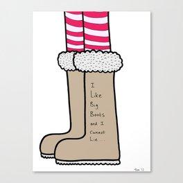 Big Boots Canvas Print