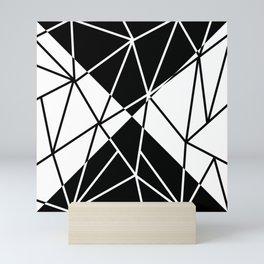 SEGMENT (BLACK-WHITE) Mini Art Print