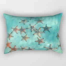 Ocean and starfish Rectangular Pillow
