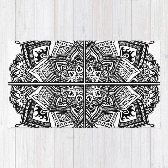 Mandala Fleur Rug By Mbenowitz Society6
