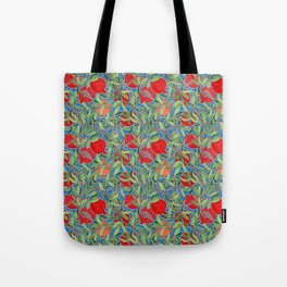 Pomegranate Branches and Fruit Tote Bag