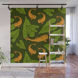 Koi Pond Pattern Wall Mural