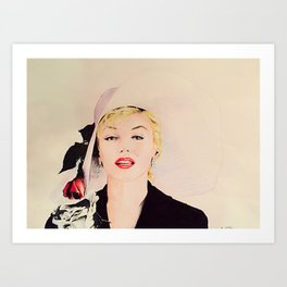 M Monroe Art Print