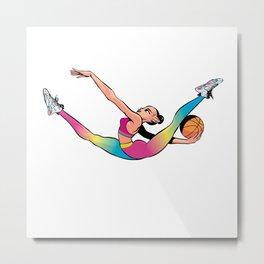 CoolNoodle in rainbow Metal Print