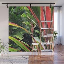 Hawaiian Wild Garden in the Jungle Rainforest Wall Mural