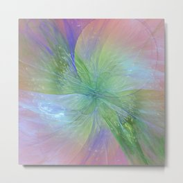Mystic Warmth Abstract Fractal Metal Print