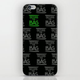 SECURE THE BAG iPhone Skin