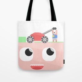 Head Lawn Mower Tote Bag